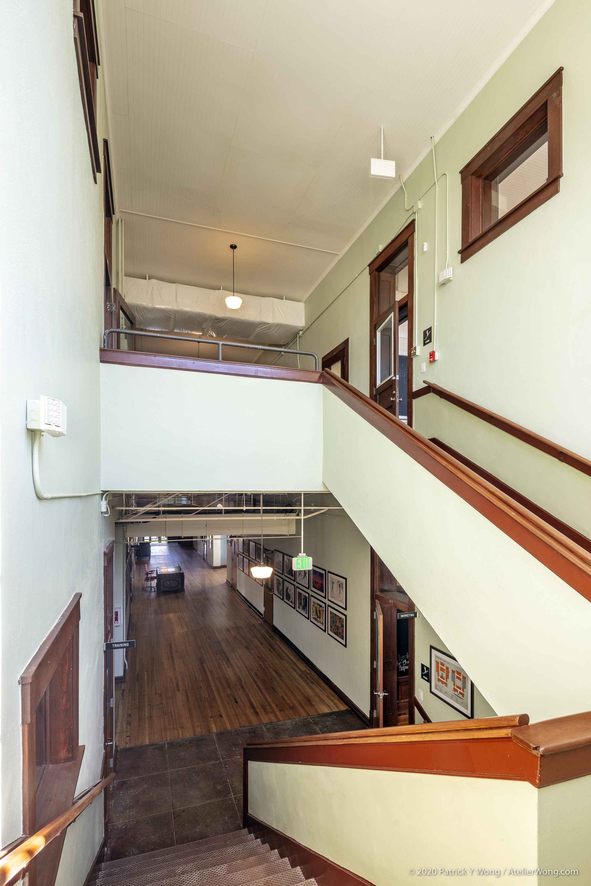 South Stairwell in the Baker School in Austin, Texas