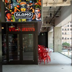 Main Entrance of the Alamo Drafthouse Los Angeles at The Bloc